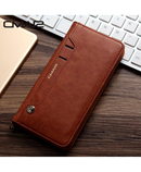 Brown Stand Flip Leather Wallet Case